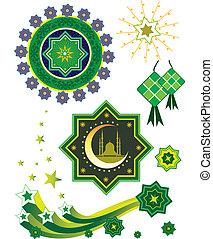 Stock Vector Illustration: Islamic pattern