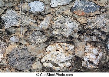 Pattern stone floor