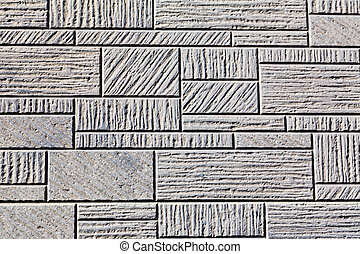 Pattern stone white brick wall