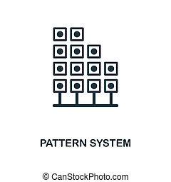 Pattern System icon. Monochrome style design from big data icon collection. UI. Pixel perfect simple pictogram pattern system icon. Web design, apps, software, print usage.