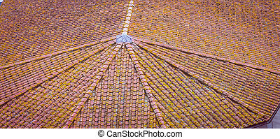 pattern terracotta roof Italy
