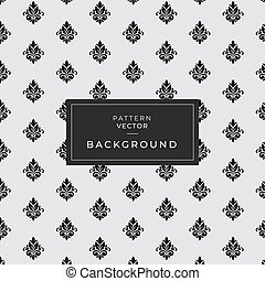 Pattern Vector damask seamless retro pattern background round geometry check cross frame dot line flower. Elegant luxury brown tone design.