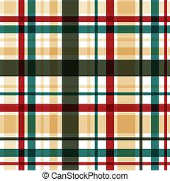 pattern., vector, eps10, seamless, tartán