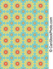 Pattern vector flower