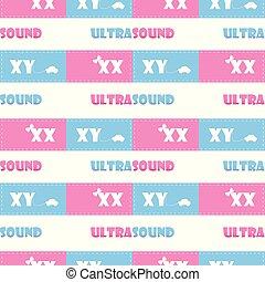 pattern., vector., ultrasound., blue., vit, pink., seamless