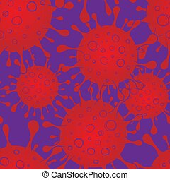 pattern., vektor, coronaviruses, influensa, riskera, ...