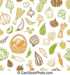 pattern., verdura