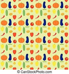 pattern., vettore, verdura