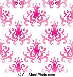 Pattern wallpaper - Vector seamless pattern wallpaper with...