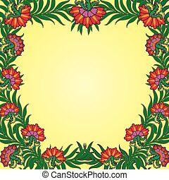 Pattern with a frame of summer flow