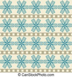 Pattern with abstract geometric flowers