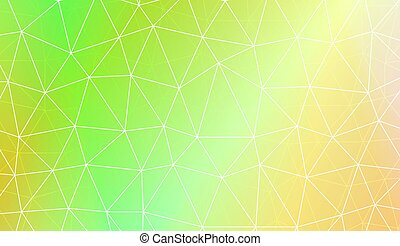 Pattern with abstract line in polygonal pattern with...