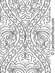 Pattern with arabesque for wallpaper. - Black and white...
