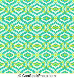 Vector seamless pattern with Arabic motif in bright color. Texture background for web, print, home decor, textile, summer fashion fabric, wedding invitation, wrappings, oriental cuisine restaurants ad