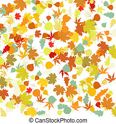 Pattern with autumn leafs. EPS 8