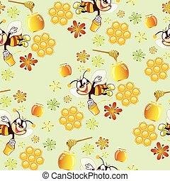 pattern with bees