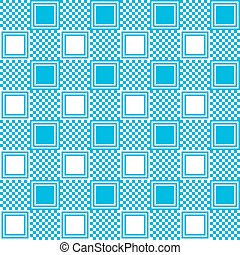 Pattern with blue square