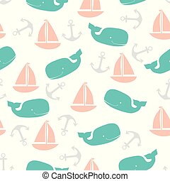 pattern with boats