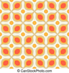 Pattern with bold geometric shapes in 1970s style - Vector...