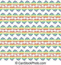 Pattern with bright hearts