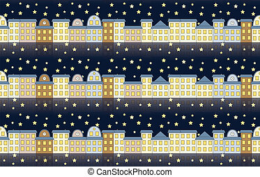 pattern with buildings at night
