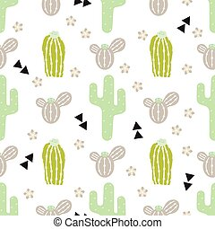 pattern with cactus and desert elements
