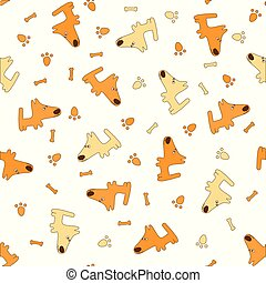 pattern with cartoon dogs