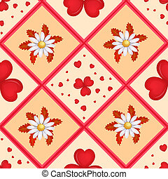 Pattern with cartoon hearts