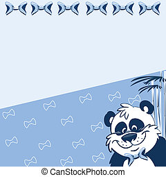 Pattern with cartoon panda