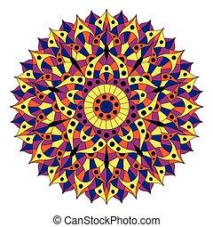 Pattern with chakra manipura.