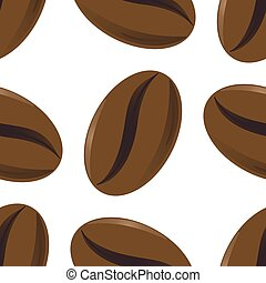 Pattern with coffee beans in vector EPS
