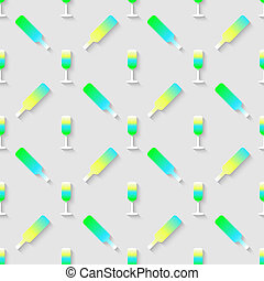 Pattern with color alcohol cocktail