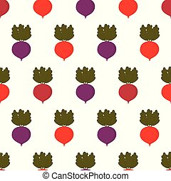 pattern with colored beets