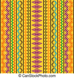 Pattern with colored motifs