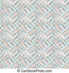 pattern with colored outline on white background