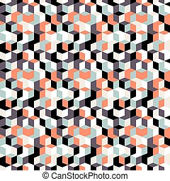 Pattern with cubes in random colors