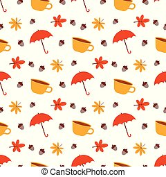 pattern with cup and umbrella