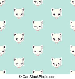 pattern with cute cat.