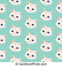 Pattern with cute cats.