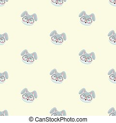 pattern with cute rabbit.