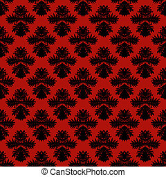 Pattern with damask motifs