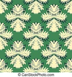 Pattern with damask motifs