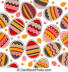 Pattern with easter eggs - Seamless bright spring pattern...