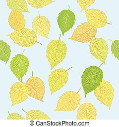 pattern with elegant  leaves