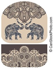 pattern with elephant of purse money design, you can print...