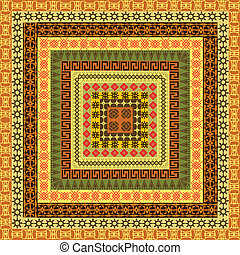 Pattern with ethnic African motifs