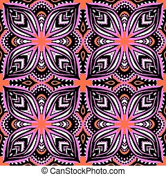 Pattern with ethnic and tribal motifs - Seamless vector...