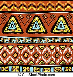 Pattern with ethnic motifs