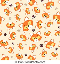pattern with face fox