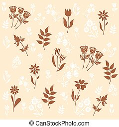 pattern with flowers, vector illustration